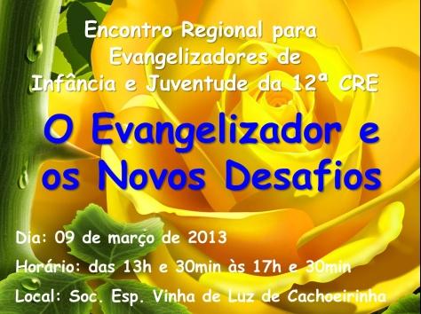 cartaz.divulgacao.curso.evangelizadores.12CRE
