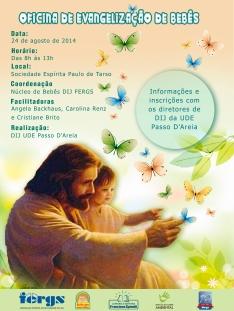 minicurso evangelização bebês Ude passo d'areia